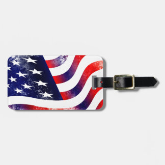 USA FLAG LUGGAGE TAG