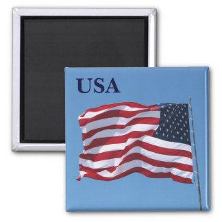 USA Flag Magnet! Square Magnet