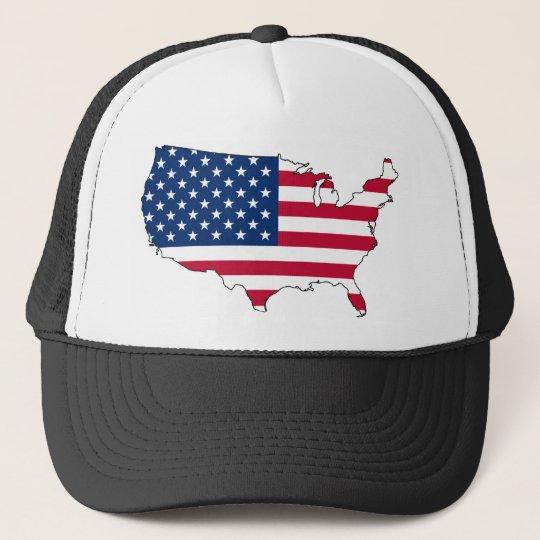 usa flag map cap