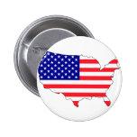Usa flag map pinback button