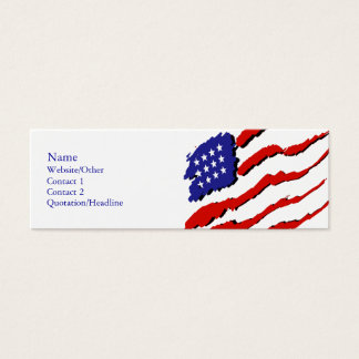 USA Flag Mini Business Card