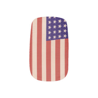 USA flag Minx Nail Art