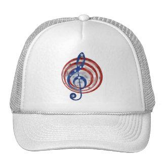 USA Flag Music Cap