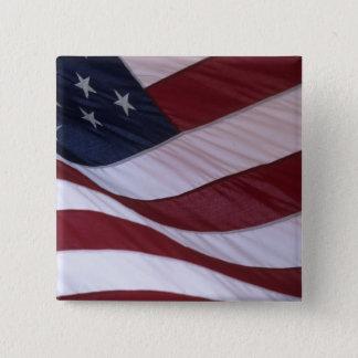 USA flag, North Carolina, USA 15 Cm Square Badge