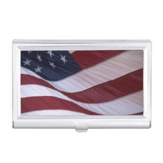 USA flag, North Carolina, USA Business Card Holder