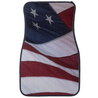 USA flag, North Carolina, USA Car Mat