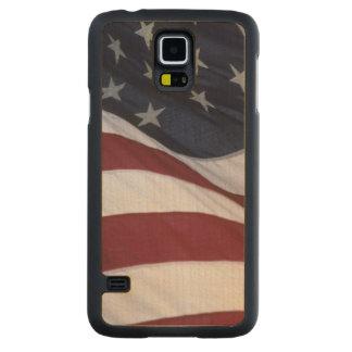 USA flag, North Carolina, USA Maple Galaxy S5 Slim Case