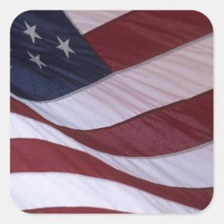 USA flag, North Carolina, USA Square Sticker