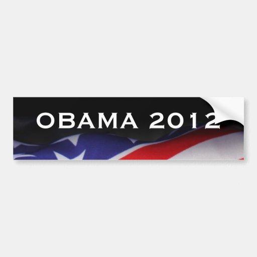 USA Flag OBAMA 2012 Bumper Sticker