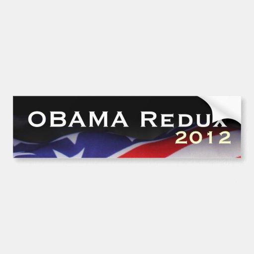 USA Flag OBAMA Redux 2012 Bumper Sticker