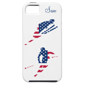 USA Flag of America Skiing American Case For The iPhone 5
