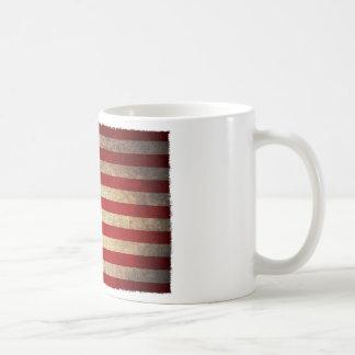 USA Flag old cracked Coffee Mug