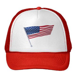 USA flag on a pole Cap
