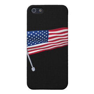 USA flag on a pole iPhone 5 Cases