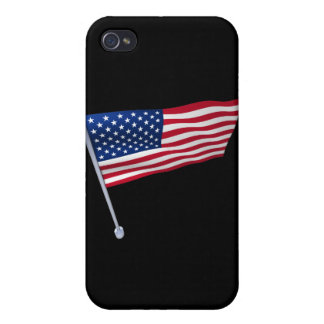 USA flag on a pole Case For iPhone 4