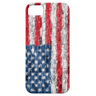 USA Flag On Brick Phone Case