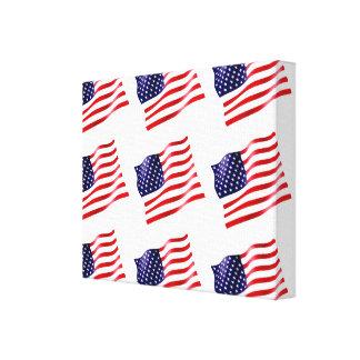 USA Flag on Canvas (Tiled)