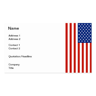 USA flag Pack Of Standard Business Cards