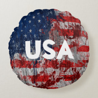 USA Flag Paint Pillow