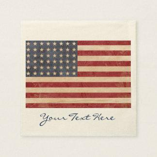 USA Flag Party Napkins Disposable Serviettes
