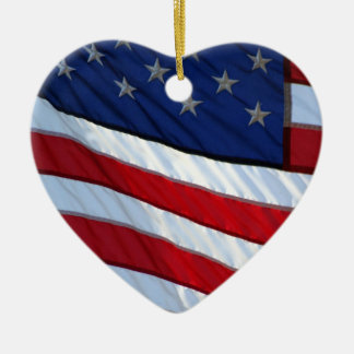 USA Flag Patriotic Christmas Christmas Ornament