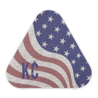 USA flag patriotic rustic weathered monogram