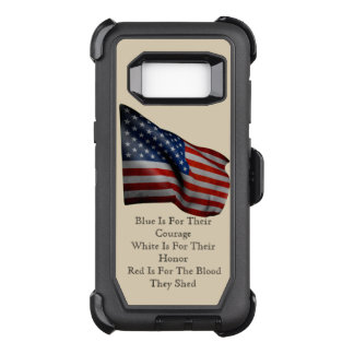 USA Flag Patriotic Stars Stripes Destiny Destiny'S OtterBox Defender Samsung Galaxy S8 Case