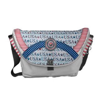 USA  flag pattern messenger bags