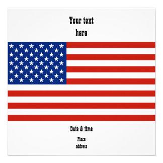 USA flag Personalized Invite
