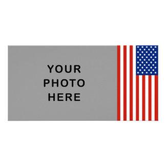 USA flag Photo Greeting Card