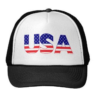 USA flag postage Mesh Hats