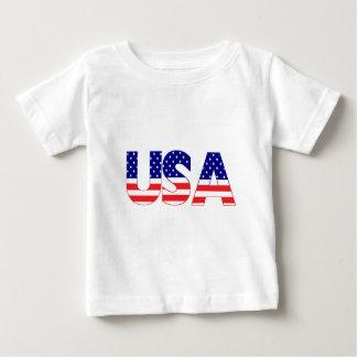 USA flag postage T-shirt