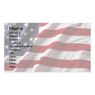 USA Flag Profile Card Business Card Template