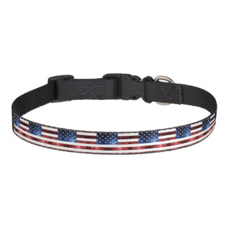 USA flag red and blue sparkles glitters Pet Collars