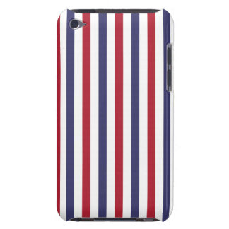 USA Flag Red and Flag Blue Narrow Thin Stripes iPod Touch Cases