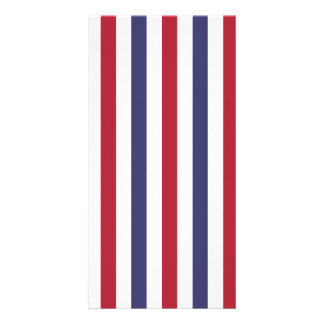USA Flag Red and Flag Blue Narrow Thin Stripes Photo Greeting Card