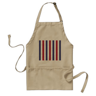 USA Flag Red and Flag Blue Narrow Thin Stripes Standard Apron