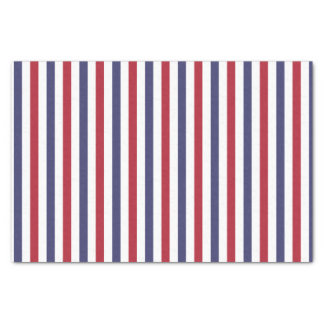 Blue And White Stripes Craft Tissue Paper