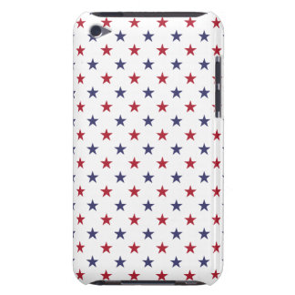 USA Flag Red and Flag Blue Stars iPod Case-Mate Cases