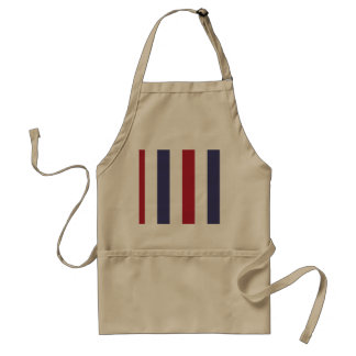 USA Flag Red and Flag Blue Wide Stripes on White Standard Apron