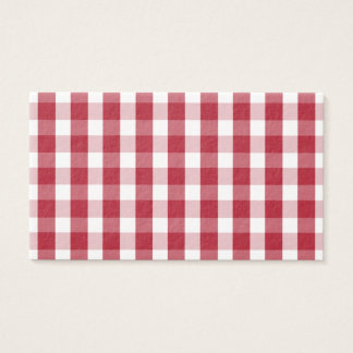 USA Flag Red and White Gingham Checked Business Card