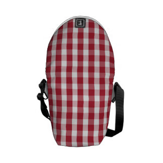 USA Flag Red and White Gingham Checked Commuter Bag