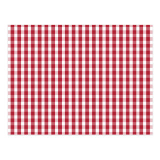 USA Flag Red and White Gingham Checked Postcard