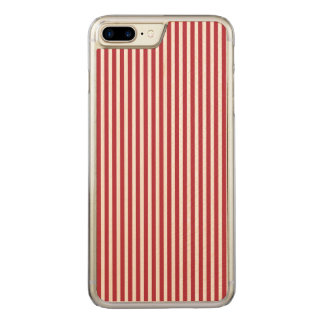 USA Flag Red and White Stripes Carved iPhone 8 Plus/7 Plus Case
