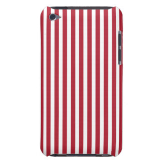 USA Flag Red and White Stripes iPod Case-Mate Cases