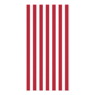 USA Flag Red and White Stripes Picture Card