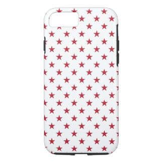 USA Flag Red Stars on White Throw Pillows iPhone 7 Case