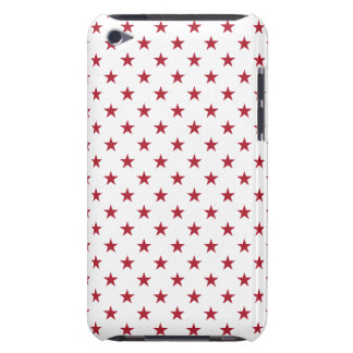 USA Flag Red Stars on White Throw Pillows iPod Case-Mate Case