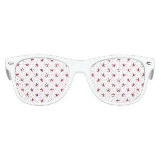 USA Flag Red Stars on White Throw Pillows Kids Sunglasses