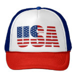 USA FLAG Red White & Blue Cap